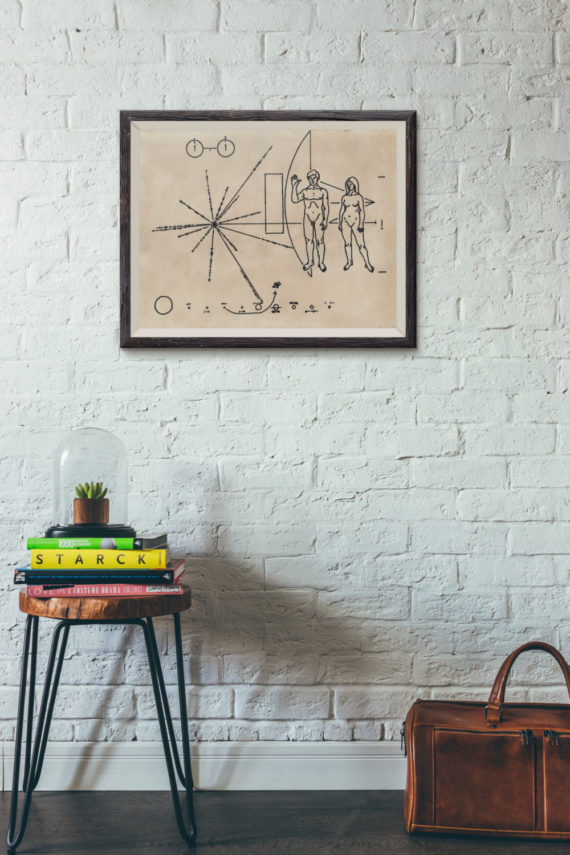 pioneer-plaque-print-on-hand-stained-vintage-paper-vintage-science-art-space-art-seti-alien-greeting-nasa-space-probe-message-58704f981.jpg