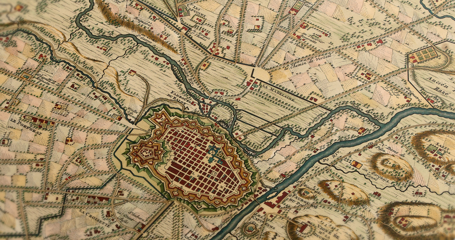 Map Of Turin Italy By Nicolaes Visscher 1706 Cobblestone