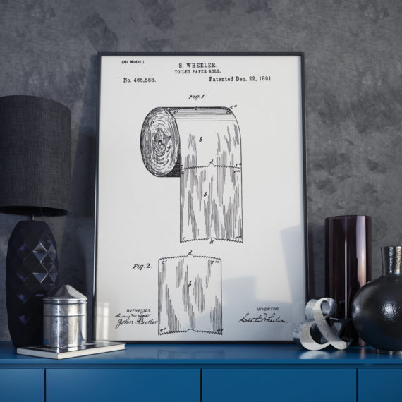 The Original Toilet Paper Roll Patent Print – 1891