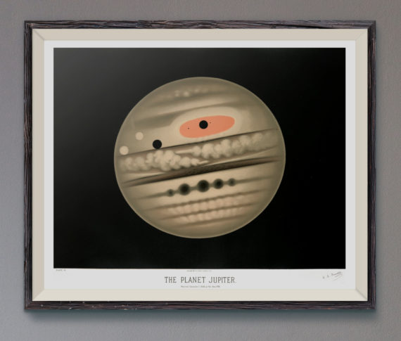 The Planet Jupiter by Étienne Léopold Trouvelot Art Print – 1882 – As Featured on Star Trek