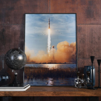 Apollo 11 Launch - NASA Art Print - Space Art Poster - First Mission to the Moon 1969